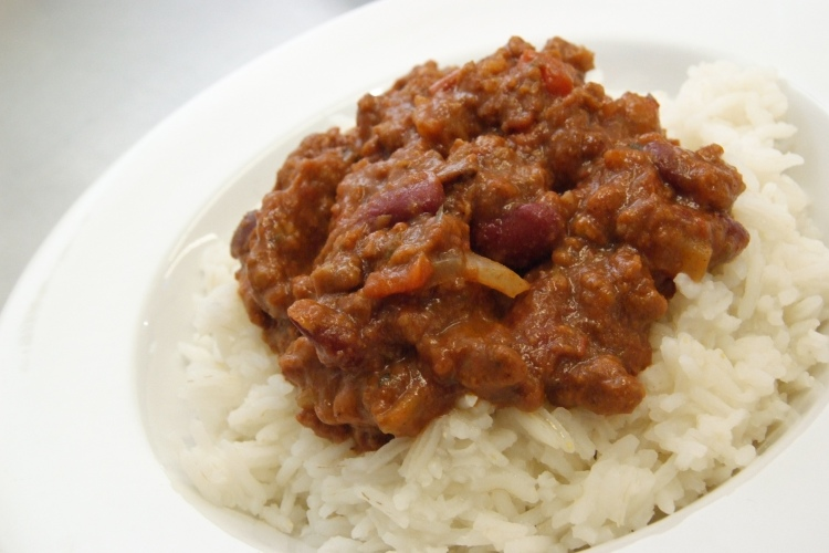 Beef Chilli Con Carne with Rice