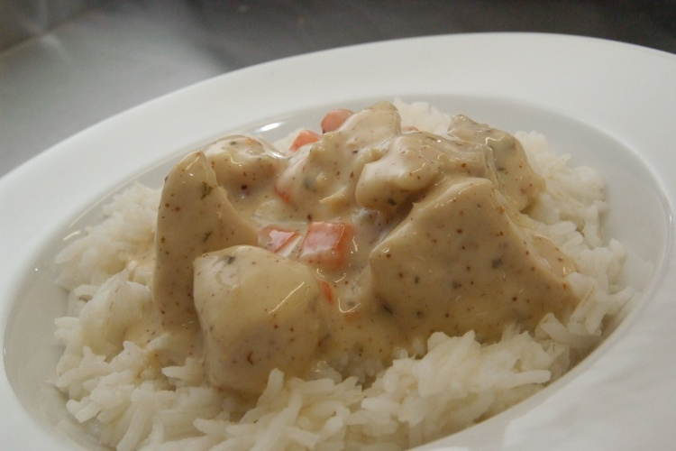 Chicken in Honey & Mustard Sauce with Rice