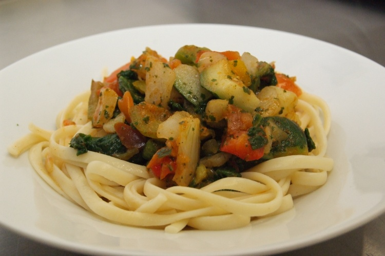 Mediterranean Vegetable Pasta (V)
